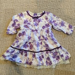 Koala baby girl long sleeve floral dress 3-6 month